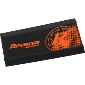 Reverse Neoprene Chainstay Guard, black/fox orange